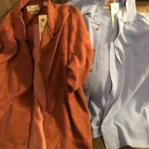 Two 100% silk shirts